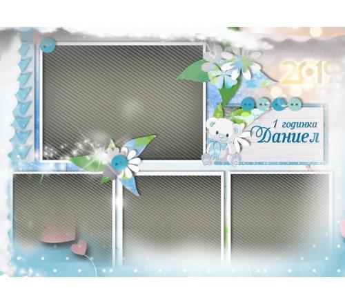 Създай сам: Календар с Колаж от Снимки и Коледно Пожелание №11-1К - ☆.。.:* Коледни Арт Календари | Магнити |››178