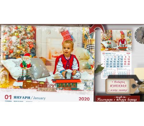 """Календари със Снимка """"Фотосесия"""" и Рамка от прозрачни снежинки №11-1К ☆.。.:* Коледни Арт Календари››198"""