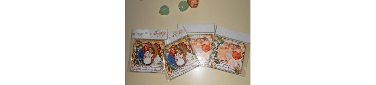 № 02-22 Двустранни Магнити - ☆.。.:* Коледни Арт Календари