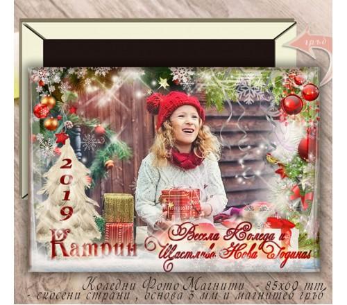 Твърди магнити със скосени страни и Коледен Дизайн №02-7››64
