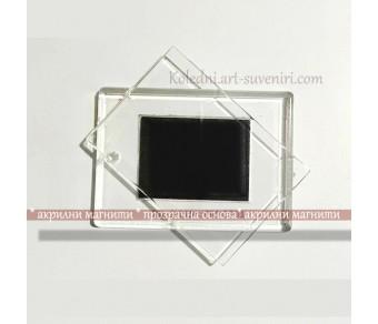 Рекламни подаръци :: Прозрачни Плексигласови Магнити за Хладилник №18-4