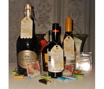Етикети с две лица  - Лого и Коледно Пожелание :: Фирмени подаръци № 09-1Е - ☆.。.:* Коледни Арт Календари |