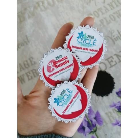 Рекламни Магнити Снежинка >> Изпратете лого | Рекламни Коледни Подаръци №01-1S
